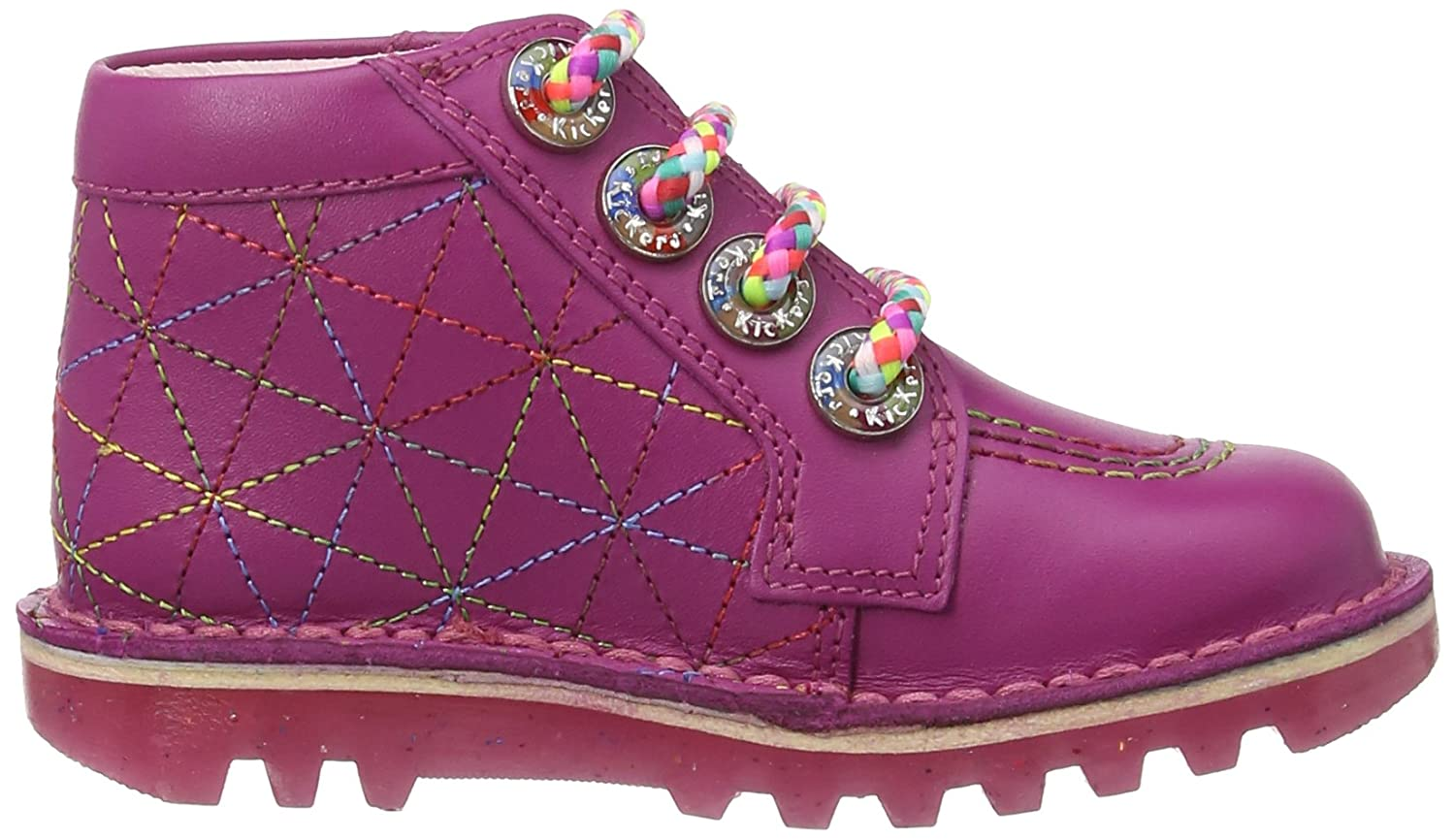 Kickers Girls Kick Zippy Boots 113085 Dark Pink 5 UK Child, 22 EU:  Amazon.co.uk: Shoes & Bags