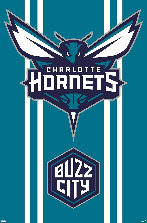 Trends International NBA Charlotte Hornets - Logo 20 Wall Poster, 22.375