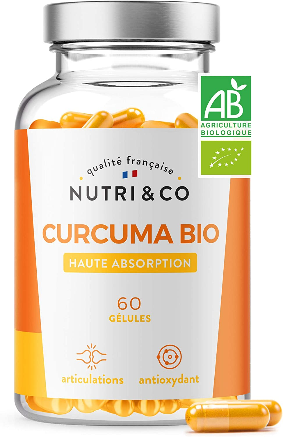 60 gélules de curcuma bio (et poivre) made in France