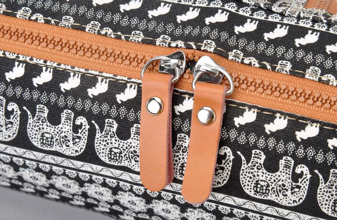 Yoga mat bag made of high-class Canvas Pattern 1 #DoYourYoga Borsa da yoga /»Sunita/« for yogamats up to 180 x 60 x 0,3 cm