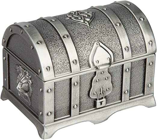 Feyarl Joyero Retro, Caja Rectangular con Acabado metálico ...