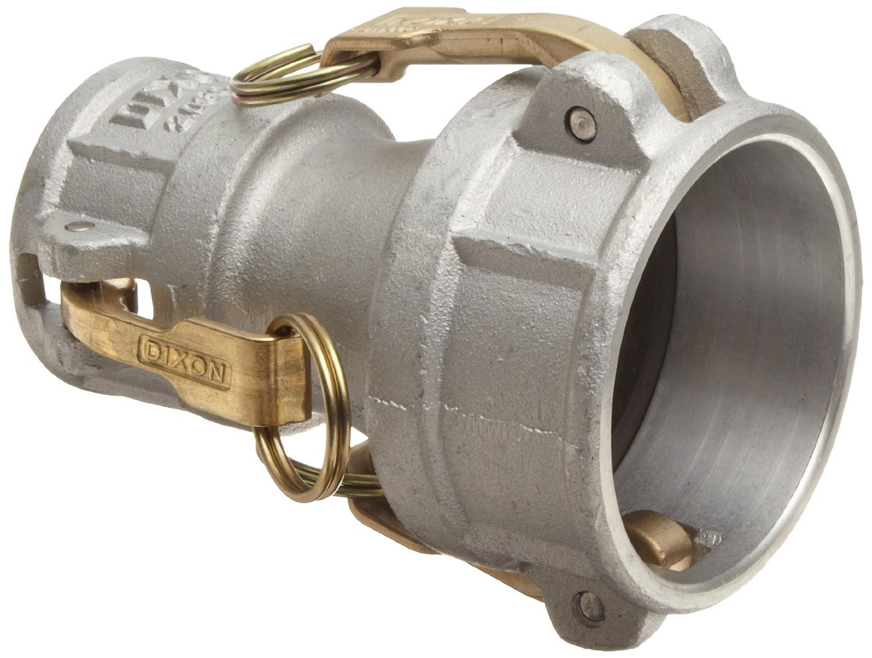 Dixon 2030-DD-AL Aluminum Cam and Groove Hose Fitting, Reducing Spool Coupler, 2'' Socket x 3'' Socket