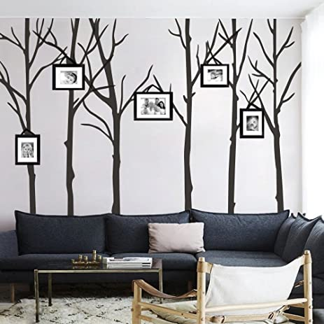 Amazoncom MairGwall Six Trees Wall Decal Tree Vinyl Wall Poster - Wall decals of trees