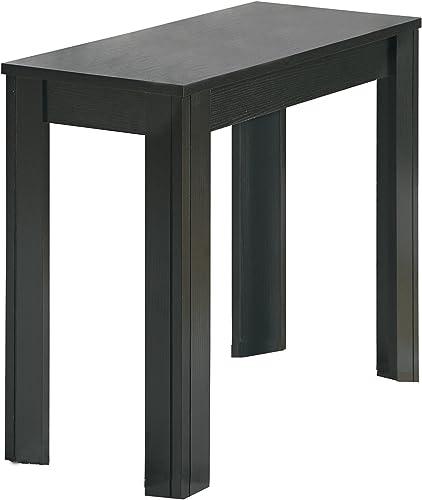Monarch Specialties Black Oak Accent Side Table
