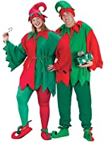 Fun World Costumes Adult Promotional Elf Set. Hat Tunic Shoes
