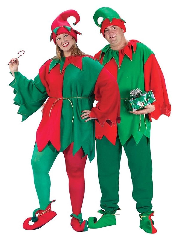 Amazon.com: Fun World Costumes Adult Promotional Elf Set. Hat ...