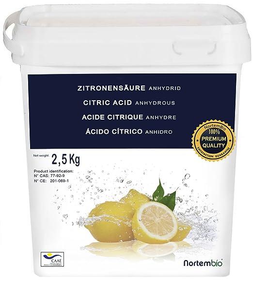 51 opinioni per Acido Citrico 2.5 kg, Qualità Premium, Polvere Anidro, Pure e Naturale,