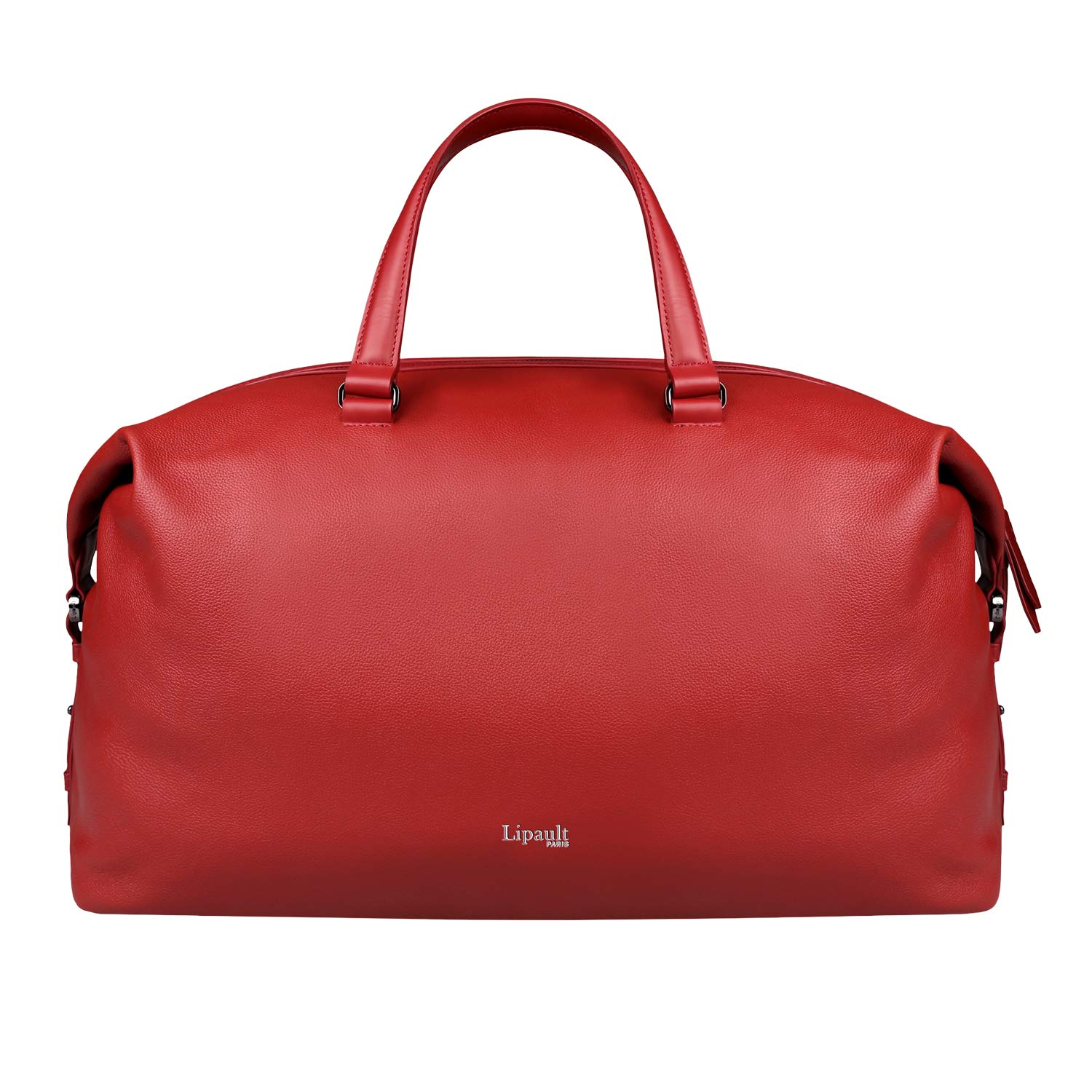 Lipault - Plume Elegance Weekend Bag - Top Handle Shoulder Overnight Travel Duffel Luggage for Women - Ruby