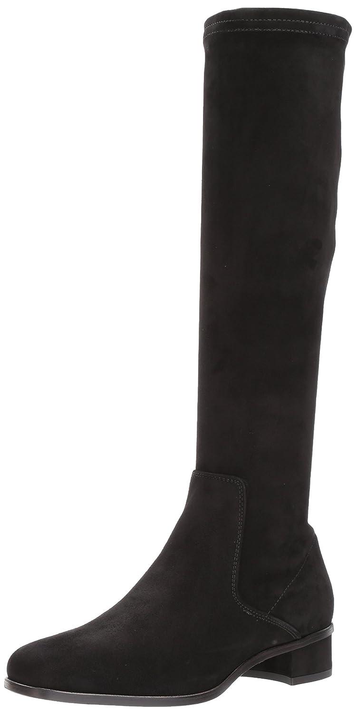 Aquatalia Women's Luciana Stretch Suede Knee High Boot B06XNVK78Z 5.5 M M US|Black