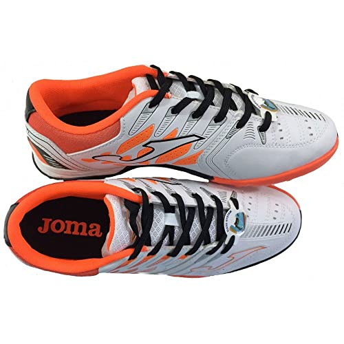 Zapatillas de fútbol modelo Joma Free 1.0 502 - Color blanco-naranja - Suela de goma (Turf): Amazon.es: Zapatos y complementos