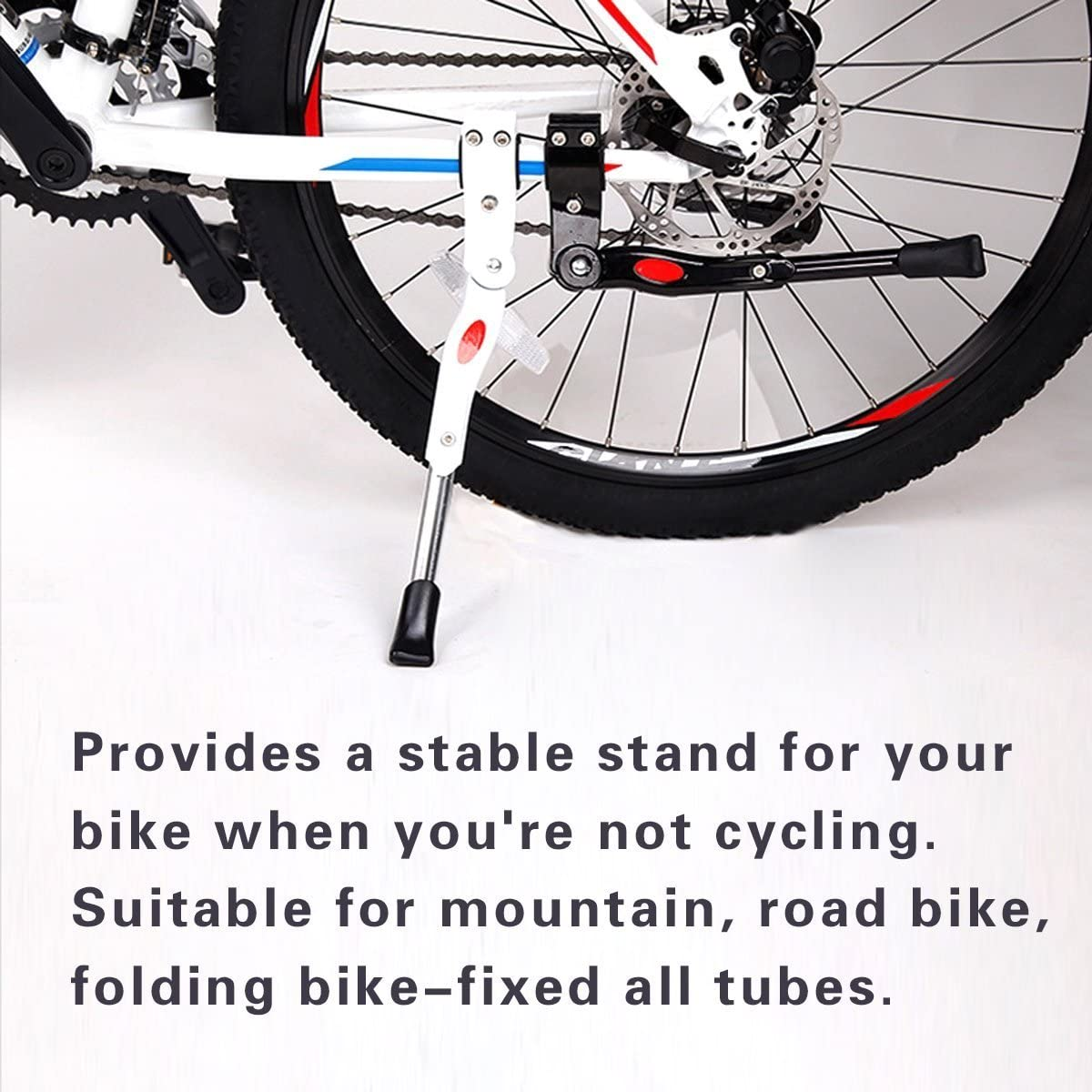 HUYUHAN Adjustable Bicycle stands Aluminum Alloy Bike Cycling Bicycle Kick stand Fits For 16 18 20 24
