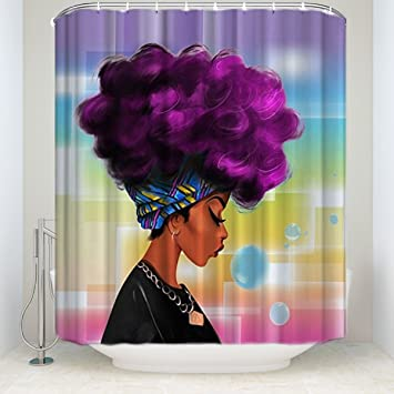 Amazon KAROLA African Art Shower Curtain 60 X 72 Inches