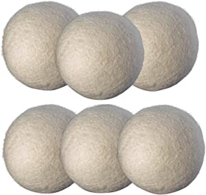 Axe Sickle 6pcs 2.95 Inch Wool Dryer Balls, Laundry Drying Balls, Natural Fabric Laundry Balls, Baby Safe Laundry Non-Toxic Unscented Hypoallergenic, Reduce Wrinkles, Shorten Drying Time.