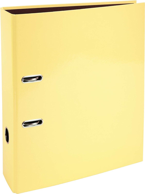 Lemon 80 mm Spine A4 Exacompta Aquarel Prem Touch Lever Arch Files