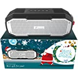 Christmas Tailored, Honstek K9 Portable Bluetooth Speakers Waterproof IPX7 DSP Stereo Bass with Dual Drivers 16 Hours Playtime for iPhone, Sports, Party, Best Christmas Gift