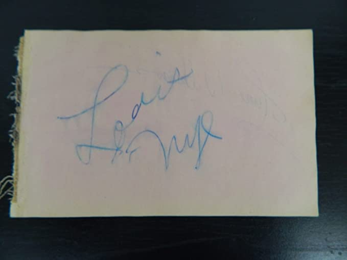 Vintage Album Page Hand Signed By June Wilkinson And Louis