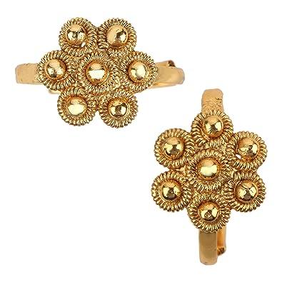 Buy Adiva Bichiya Metti Golden Copper Adjustable Leg Jewellery Toe