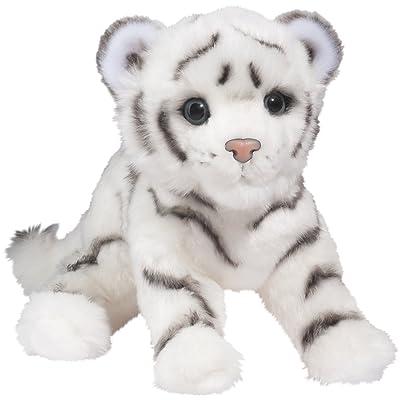 Douglas Silky White Tiger Cub Plush Stuffed Animal: Toys & Games