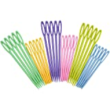 eBoot Colorful Plastic Sewing Needles, 30 Pieces