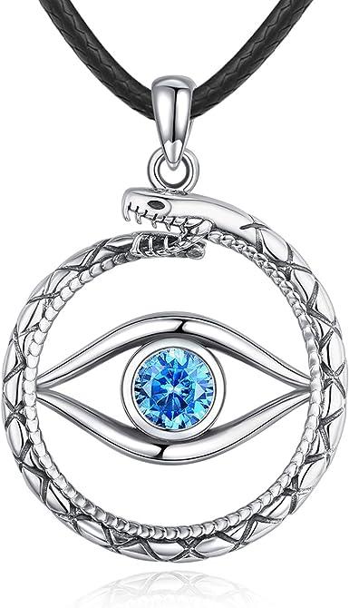 Greek design traditional evil eye pendant in silver 925 14 mm