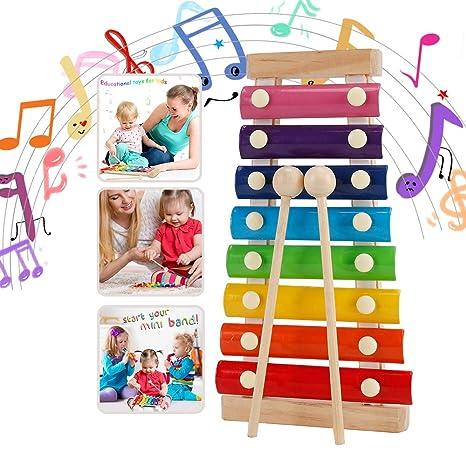 wgde toy Juguete para niña de 1-8 años, Instrumento Musical de xilófono Juguete para niños pequeños Niño de 1-8 años Regalo de cumpleaños para niña de ...
