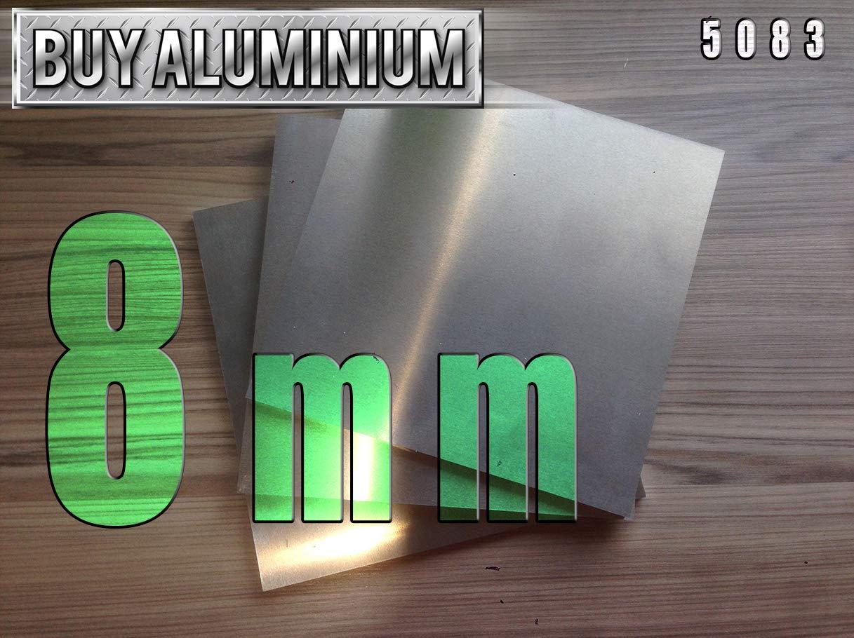 8mm Aluminium Plate - 5083 (100mm x 100mm) BuyAluminium