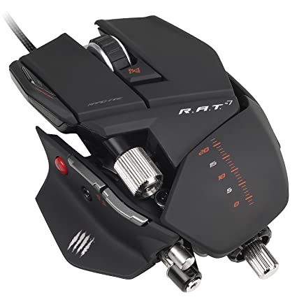 384719227eb Mad Catz R.A.T.7 Mouse - Matte Black (Mac/PC DVD): Amazon.co.uk ...