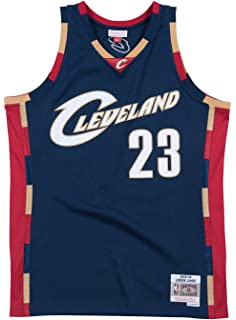 b97e844eaba Lebron James Cleveland Cavaliers Mitchell and Ness Men s Navy Throwback  Jesey