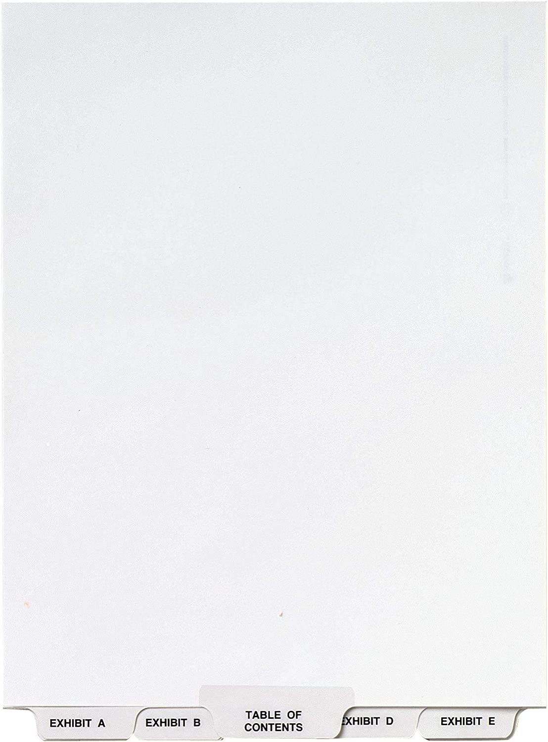 Avery Avery-Style Lgl Bottom Tab Dividers, 27-Tab, Exhibit A-Z, Letter Size (8.5 x 11), White, 27 per Set (11376) : Binder Index Dividers : Office Products