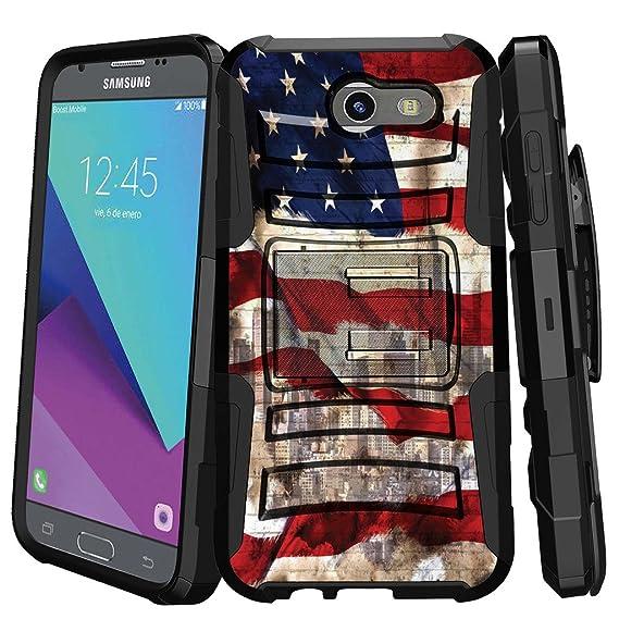 finest selection 2f20b d7690 MINITURTLE Case Compatible w/ Hybrid Bumper Case for [Samsung Galaxy J3  Emerge   J3 Prime   J3 Eclipse   Luna Pro 2017] [Clip Armor] Rugged Hard  Shell ...