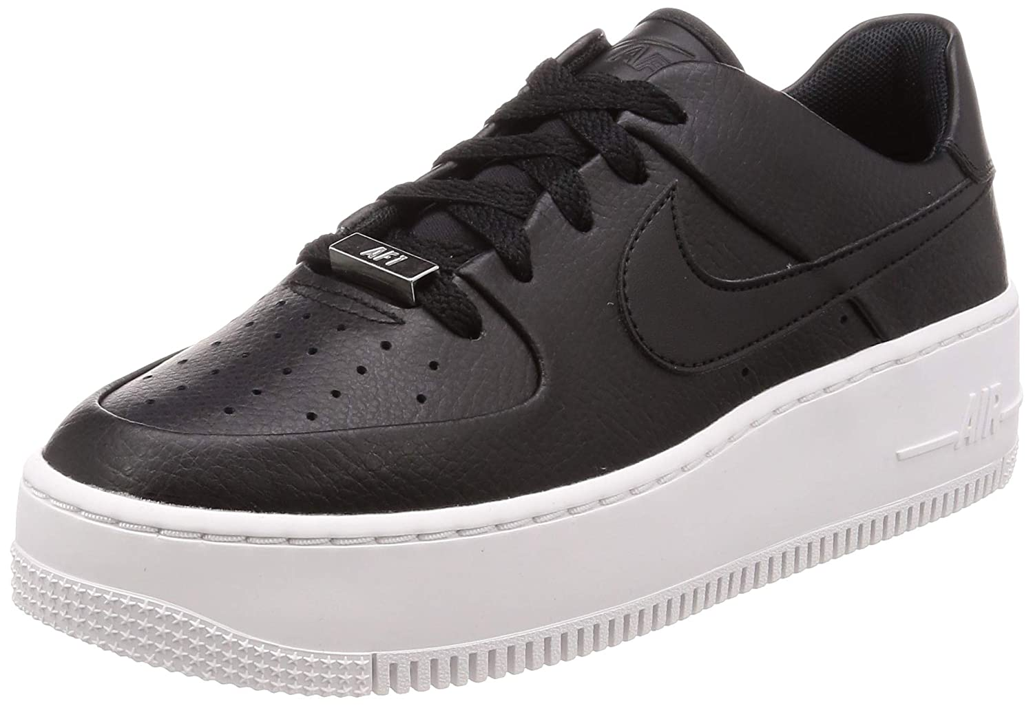 outlet store 37fa7 50134 Amazon.com | Nike Air Force 1 Sage Low Women's Shoes Black ...