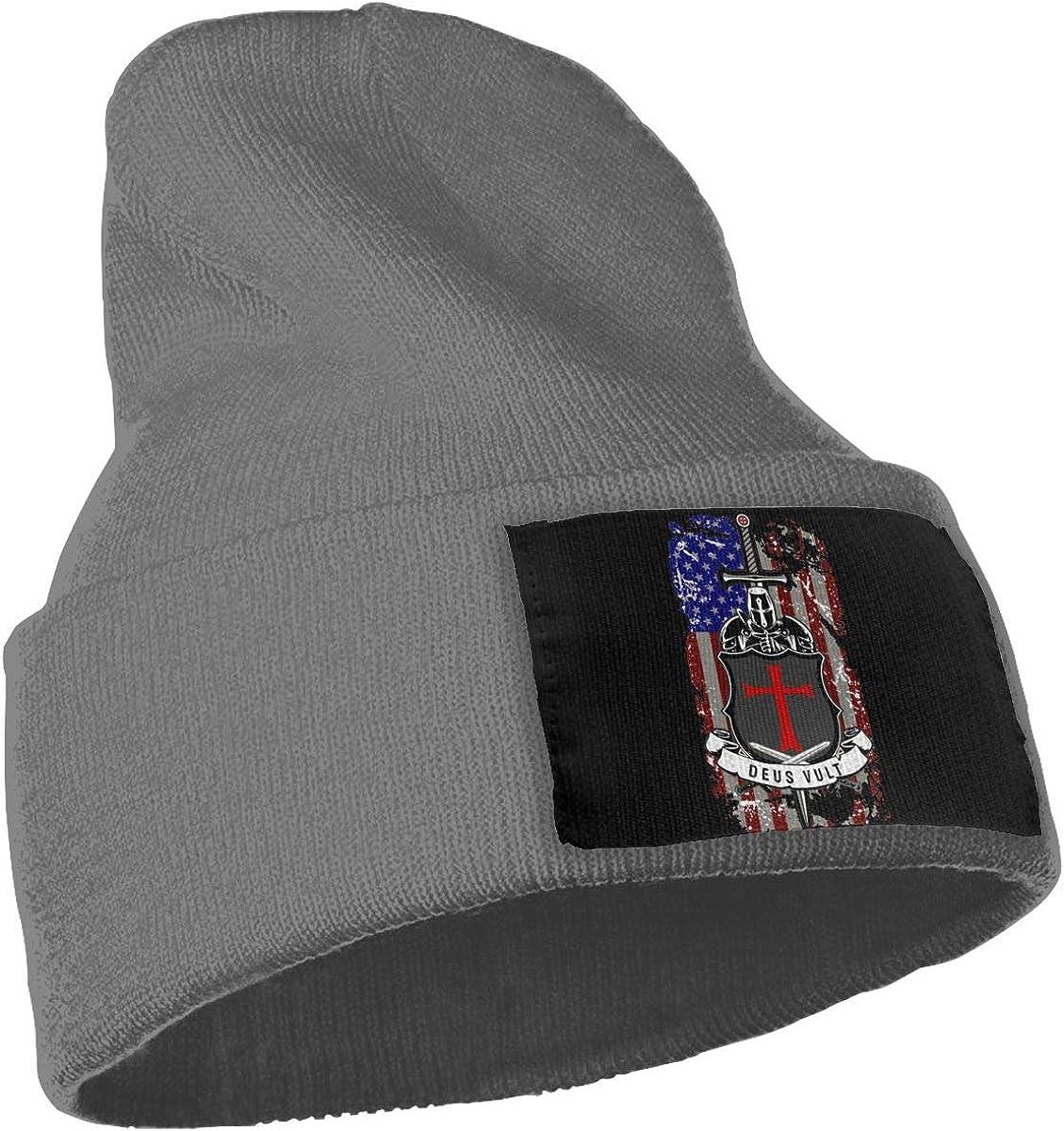 Peng Peng Knights Templar Deus Vult Beanie Cap Skull Cap Men Women Winter Warm Knitting Hats