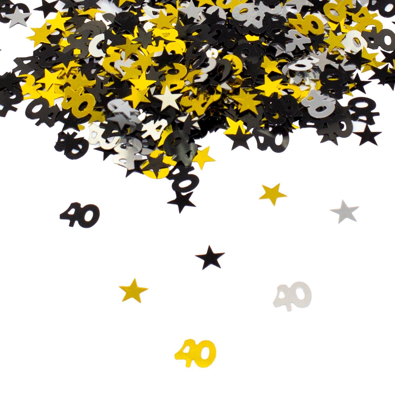 Oblique Unique/® 18 Geburtstag Jubil/äum Konfetti Gold Silber Schwarz Sterne Tisch Deko 500 St/ück