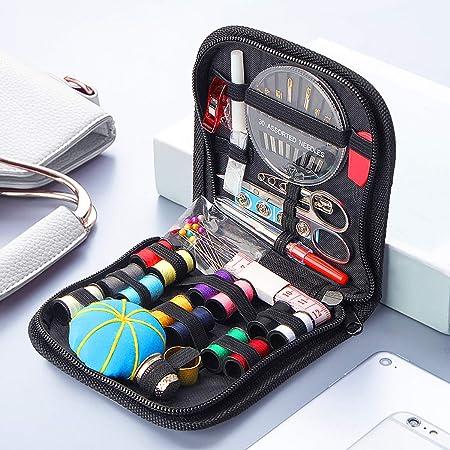 Kit de costura, Accesorios de costura premium con 73 piezas Accesorios Costura DIY con Tijeras, Dedos,Hilos, 30 Agujas de Coser, Kit de Costura de viaje: Amazon.es: Hogar