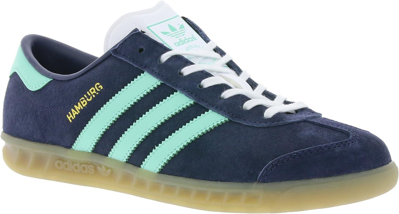 adidas Hamburg W Schuhe 4,5 midnight greyeasy green: Amazon