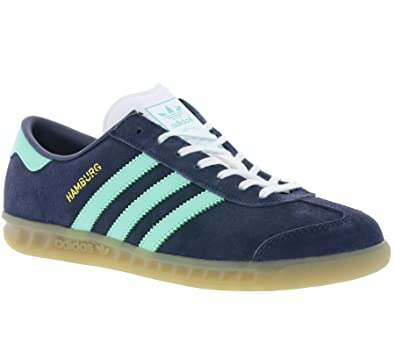 adidas Hamburg W chaussures midnight greyeasy green: Amazon