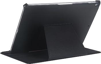"""StilGut UltraSlim Case V2, étui de Protection pour iPad Pro 12.9"""" (2017) avec Fonction Support, Noir V2"""