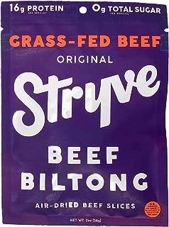 product image for Stryve Beef Biltong, Grass-fed Biltong Jerky, 16g Protein, 0g Sugar, 1g Carb, Gluten Free, No Hormones, No Antibiotics, No Preservatives, No Nitrates - Original, 2oz