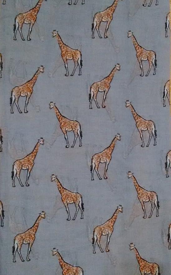 GIRAFFE SCARF GIFTS Ladies Womens Animal Print Pink Sarong Shawl Giraffes Gift