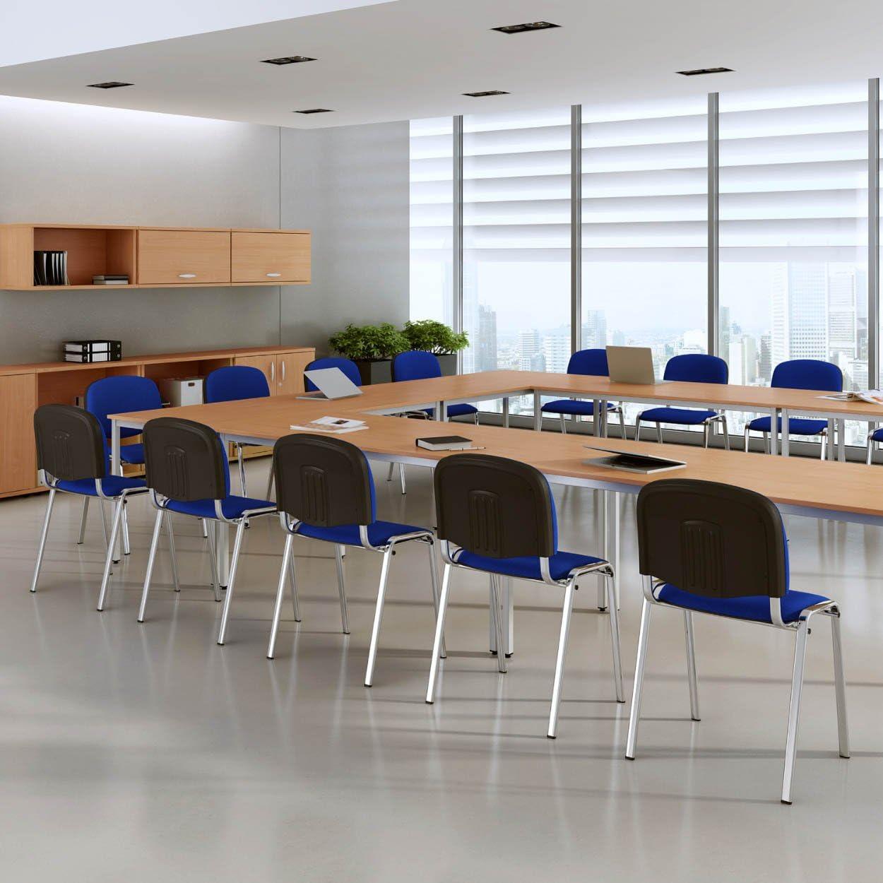 8er Set Stapelstuhl Konferenzstuhl//Seminarstuhl Polsterstuhl Polsterst/ühle Seminarstuhl