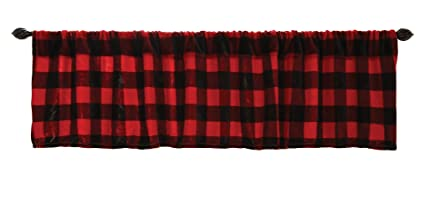 Carstens Lumberjack Red Plaid Plush Valance