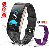 GTBonad 2018 NEW Fitness Tracker HR, Heart Rate Monitor Activity Band Blood Pressure Sleep Monitor Pedometer, 0.96inch TFT Colorful OLED Screen Waterproof Bluetooth Smart Bracelet for Kids Women Men