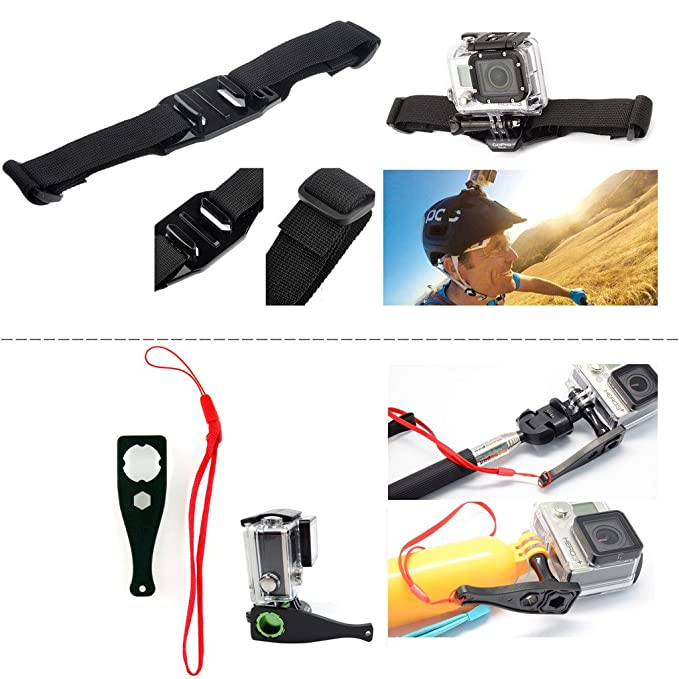 GoPro - Juego de accesorios para cámara GoPro Hero 4 3+ 3 color ...
