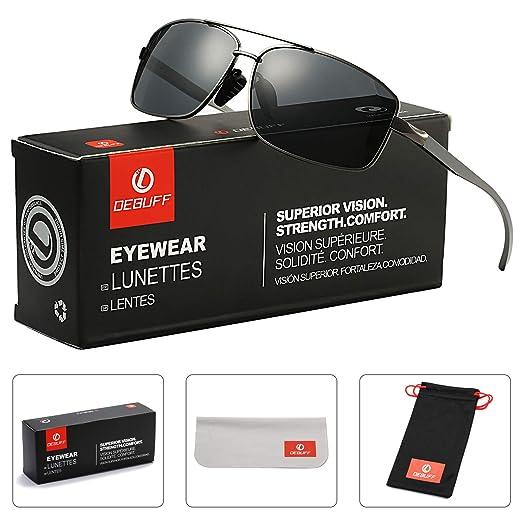 c1ab8e35c0 Ultra Lightweight Al-Mg Alloy Metal Rectangular Frame Polarized Sunglasses  100% UV Protection (