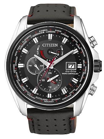 Citizen AT9036-08E - Reloj para hombres, correa de cuero, color negro: Amazon.es: Relojes