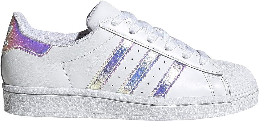 población reemplazar obvio  adidas Superstar Blancas. Zapatillas Deportivas para Mujer.g0 (Blanc -  Bandes Iridiscent, Numeric_38_Point_5): Amazon.es: Zapatos y complementos