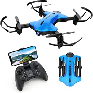 DROCON Ninja Drone for Kids & Beginners FPV RC Drone with 1080P HD Wi-Fi Camera, Quadcopter Drone with Altitude Hold, Headless Mode, Foldable Arms, One Key Take Off/Landing, Blue