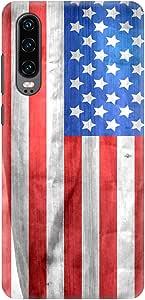 Stylizedd Huawei P30, Slim Snap Basic Case Cover Matte Finish - USA Grunge Flag