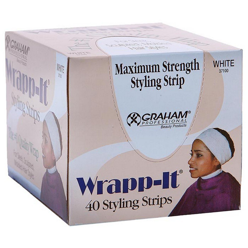 Graham Professional Beauty Wrapp-It White Styling Strips 40 styling strips