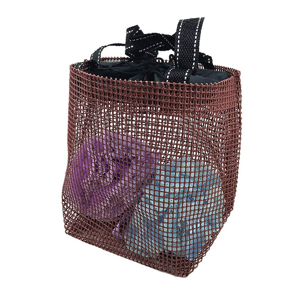 Portable Mesh Bath Fitness Shower Portable Waterproof Wash Bag (Color : Brown) Susulv